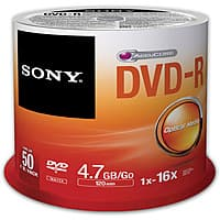 B&H Photo Video Deal: 50-Pack Sony 4.7GB 16X Recordable DVD-R Discs