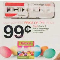 Target Deal: One Dozen Grade A Large Eggs for $0.99 @ Target B&M 3/29-4/4