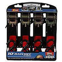 Highland: 4-Pack 10' Ratchet Tie Downs or 14' Tow Rope w/ Hooks  $5 & More + Free Store Pickup