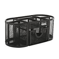 Amazon Deal: Rolodex Mesh Collection: 3-Tier Swivel Tower Sorter $5, Oval Supply Caddy