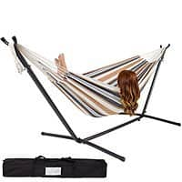 eBay Deal: Double Hammock with Space-Saving Steel Stand
