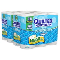 Amazon Deal: 36-Ct Quilted Northern Ultra Soft & Strong Mega Roll Bath Tissue