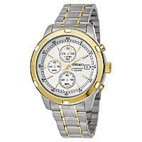 Ashford Deal: Seiko Men's Chronograph Quartz Watch w/ Stainless Steel Bracelet