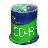TigerDirect Deal: 100-Pack Color Research 52X 700MB CD-R Blank Media