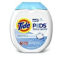 81-Count Tide Pods Laundry Detergent Pacs (Free & Gentle)