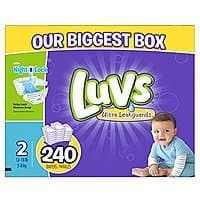 240-Count Luvs Ultra Leakguards Diapers (Size 2)  $19
