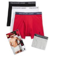 4-Pack Ralph Lauren Polo Men's Boxer Briefs, Boxers or Undershirts