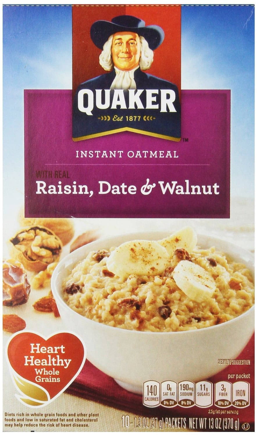 Quaker Instant Oatmeal: 4-Pack of 10-Ct Boxes or 4-Pack of 12-Ct Boxes  from $8