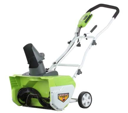 "GreenWorks 12-Amp 20"" Corded Snow Thrower $124.99 with free shipping"