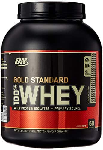 5lbs. Optimum Nutrition Gold Standard 100% Whey Protein (Cookies and Cream)  $46 & More + Free Shipping