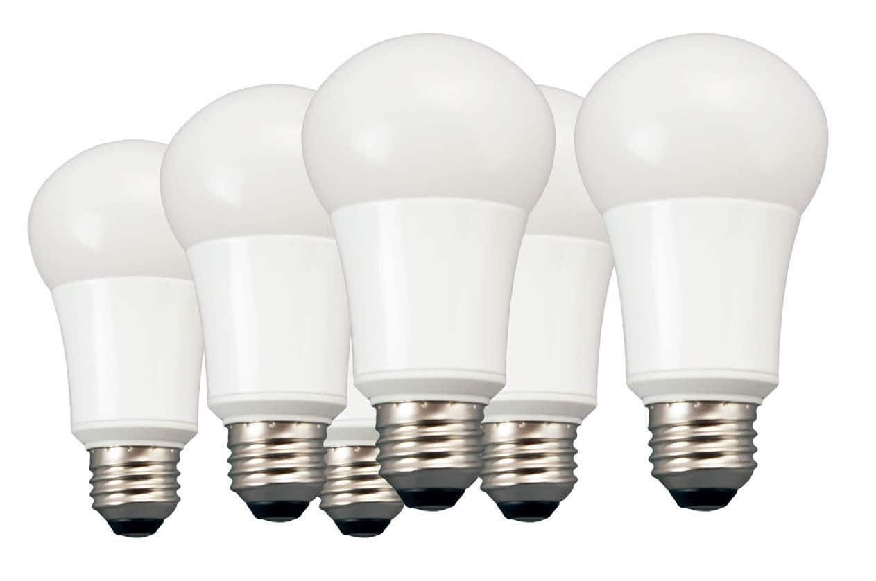 6-Pack 60W Equivalent TCP Daylight A19 Non-Dimmable LED Light Bulbs  $24 + Free Store Pickup