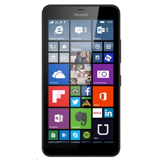 Unlocked Microsoft Lumia 640XL LTE dual-sim RM-1096 Windows Phone $199 at Expansys , black, white, blue, and orange colors
