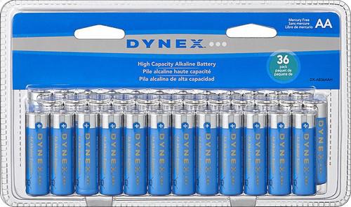 36-Pack Dynex Alkaline Batteries (AA or AAA)  $7 + Free Store Pickup