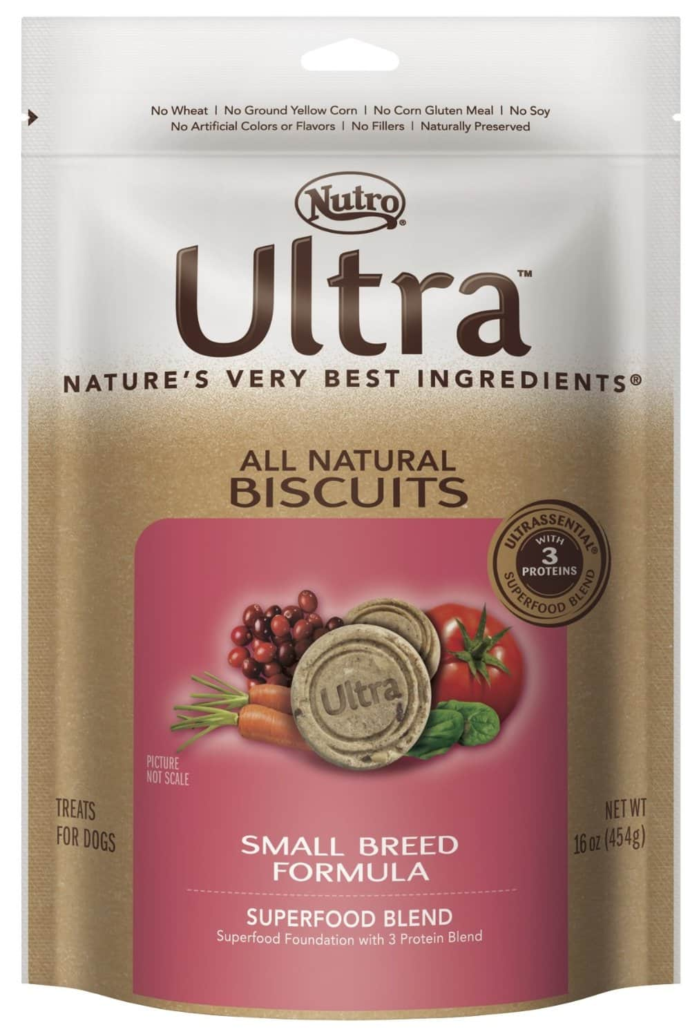 16oz Nutro Ultra All Natural Dog Biscuits for Small Breeds  $2.30 + Free Shipping