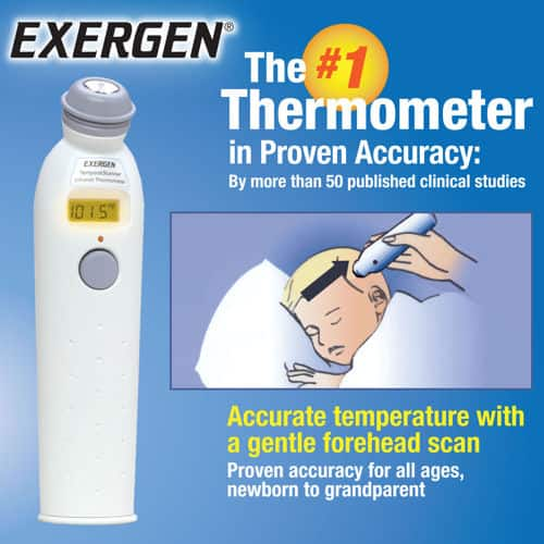 Exergen Temporal Artery Thermometer  $8 or Less After $20 Rebate + Free Shipping