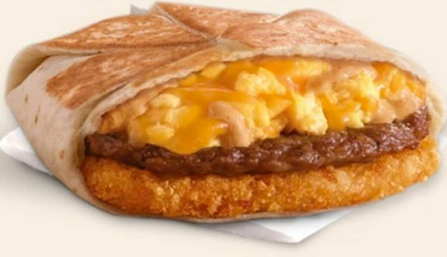 Free Taco Bell AM Crunchwrap - Steal a Base Steal A Breakfast promo 7am-11am on 11/05 or 11/10