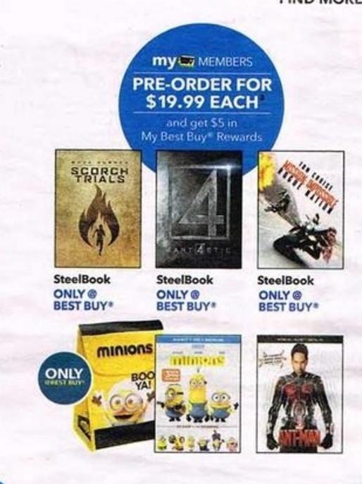 Ant-Man (3D Blu-ray + Blu-ray + Digital HD) Pre-Order + $5 Best Buy Rewards Coupon $19.99 @ Best Buy 11/29-12/05