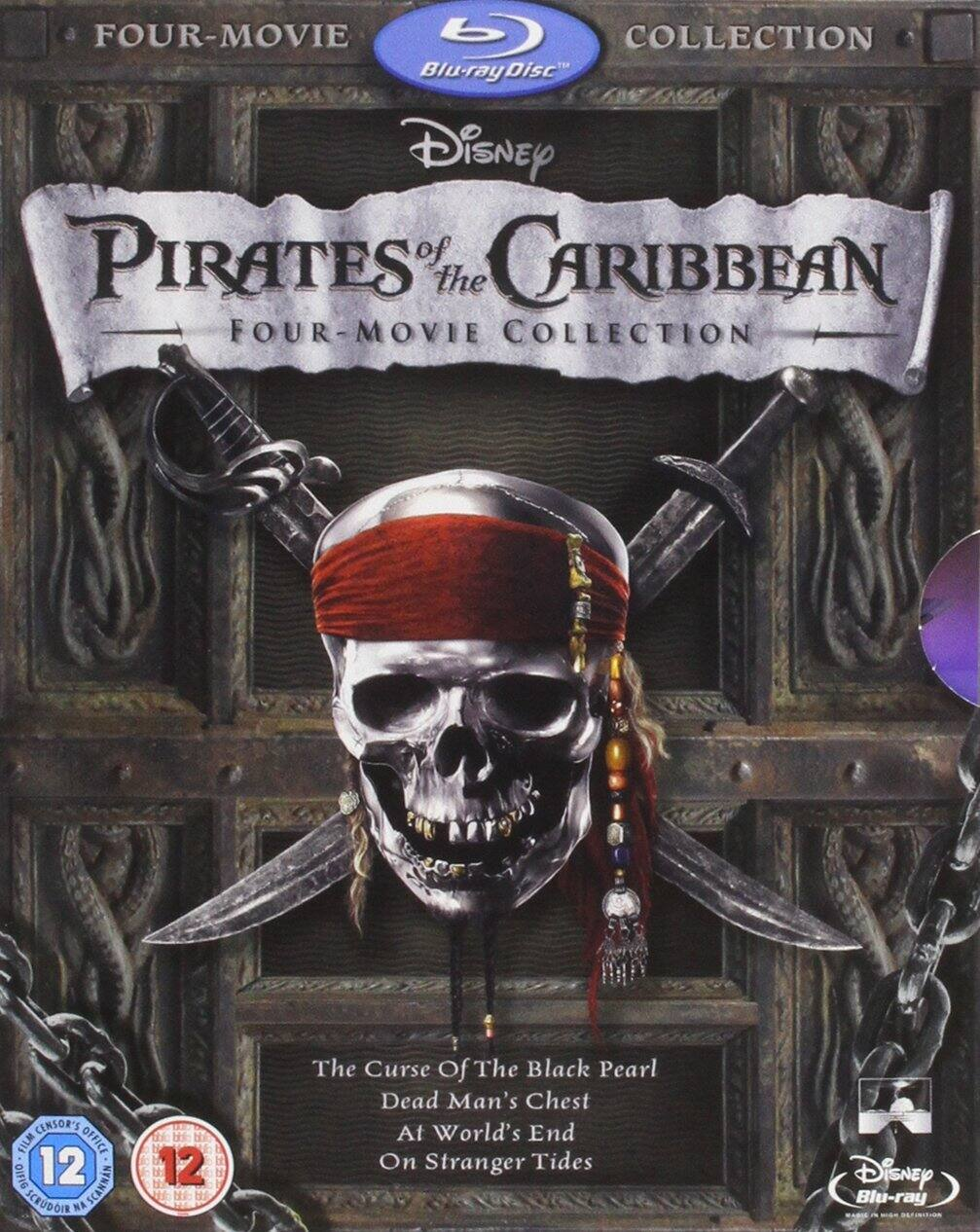 Pirates of the Caribbean: Four-Movie Collection [Blu-ray] $16.50 Shipped