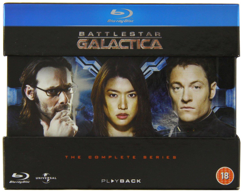Battlestar Galactica: The Complete Series (Region-Free Blu-ray)  $28.50