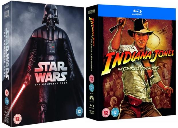 Amazon UK £10 Off £50: Star Wars Complete + Indiana Jones (Blu-ray)  $69 & More