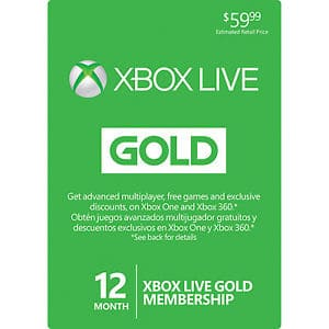 Groupon Coupon: $20 Off $20: 12-Month Xbox Live Gold Membership  $25 & More (New Customers Only)