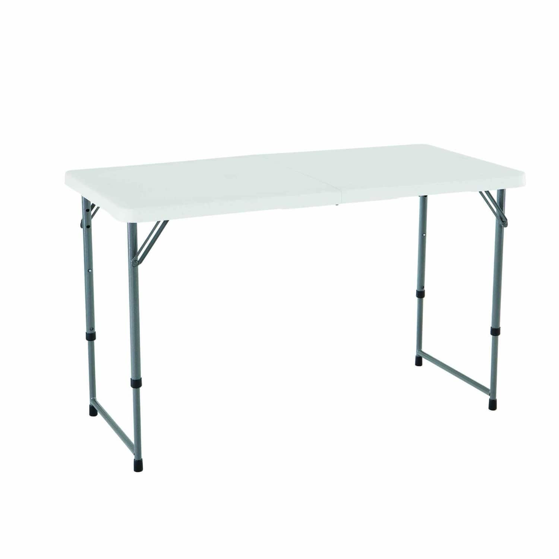 "Lifetime 48""x24"" Height Adjustable Folding Utility Table  $29"