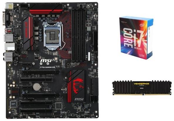 Intel i7-6700K CPU +  MSI Z170A LGA 1151 ATX MB + 8GB Corsair DDR4 Memory  $383 after $60 Rebate