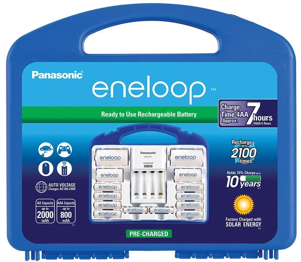 Panasonic Eneloop Power Pack Rechargeable Batteries w/ Charger  $28