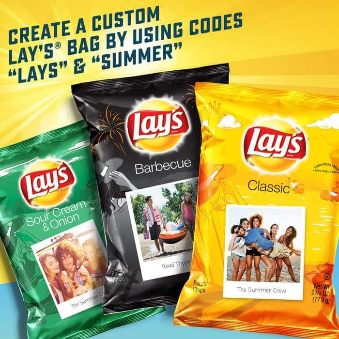 2.75oz Lay's Personalized Potato Chips  Free (Instagram Account Required)