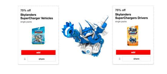 75% Off Skylanders SuperChargers Cartwheels Coupon & More @ Target B&M
