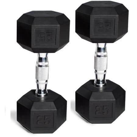 CAP Barbell Rubber-Coated Dumbbell Set: 50lb $78, 45lb $70, 40lb  $63 & More + Free Store Pickup