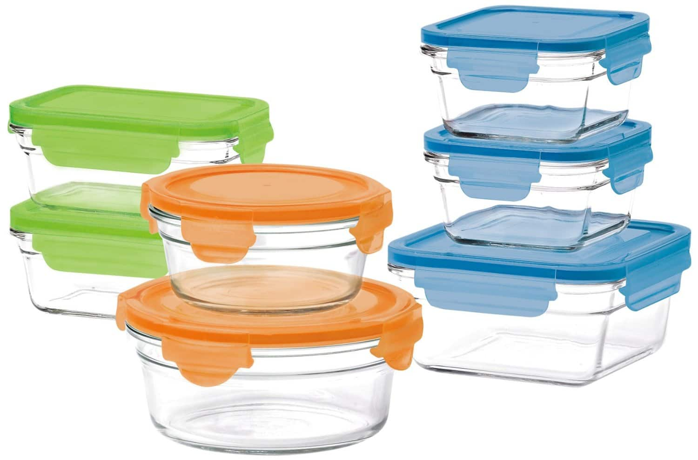 14-Piece Glasslock Food Storage Set  $24