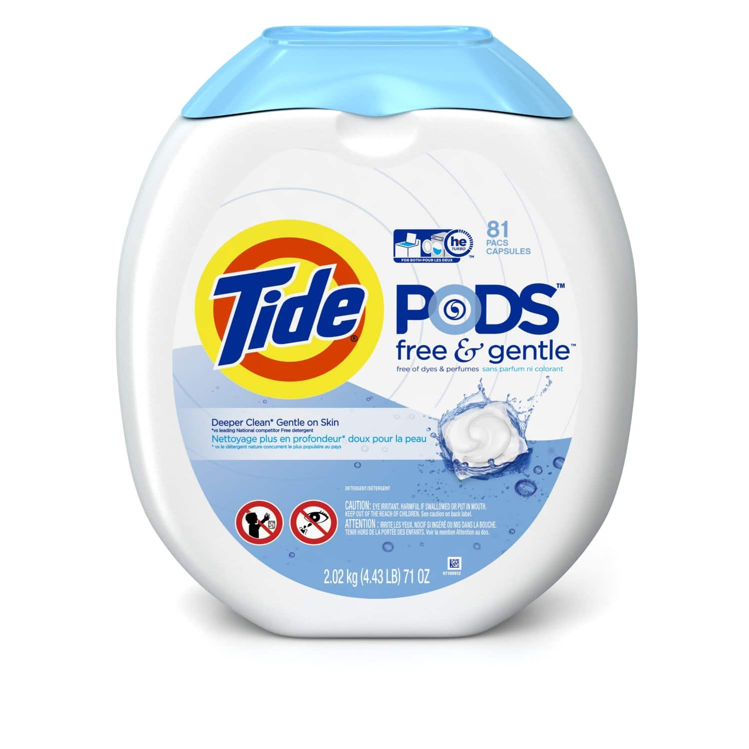 81-Count Tide Pods Laundry Detergent Pacs (Free & Gentle)  $13 & More + Free S&H