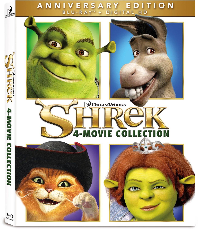 Shrek: 4 Movie Collection (Blu-ray + Digital HD)  $20 + Free Store Pickup