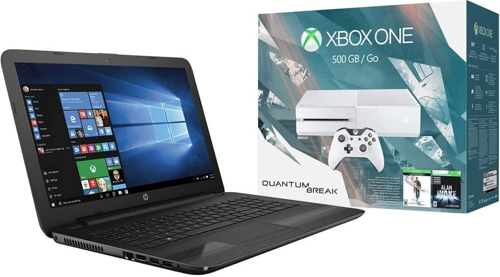 Select XBOX One Console + HP Laptop Bundle for $600 + Free Shipping @ Best Buy (500GB XBOX One + 6th Gen Intel Core i5 Laptop)