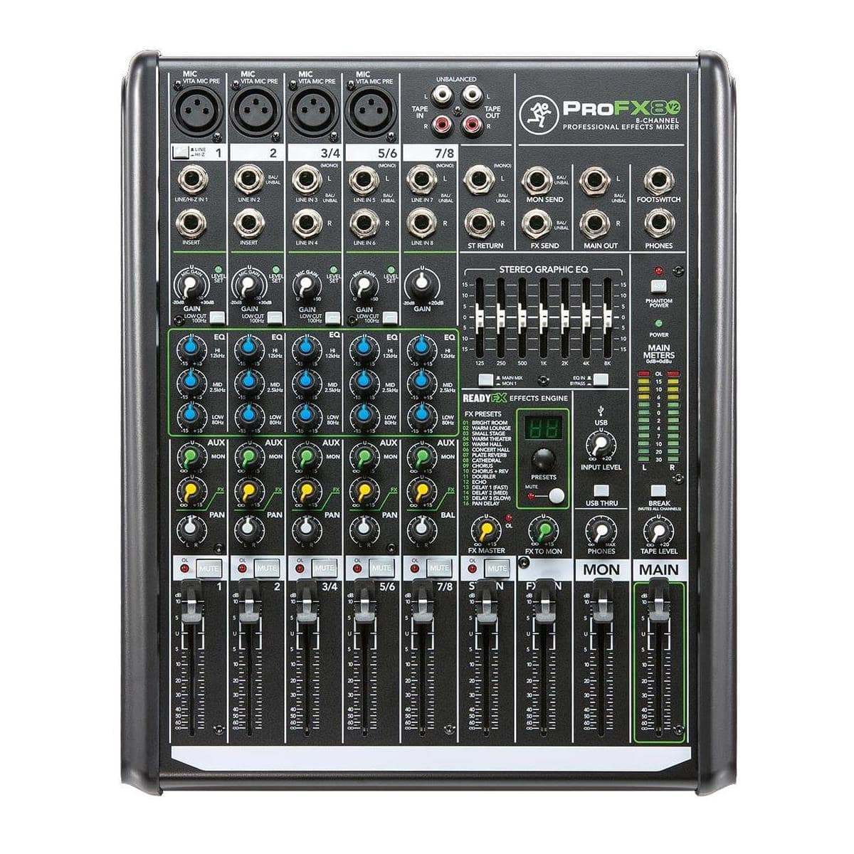 Mackie ProFX12v2 12-Ch Mixer $170 or Mackie ProFX8v2 8-ch Mixer $130 after $30 rebate + Free shipping