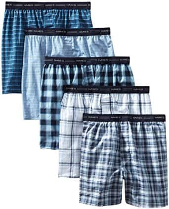 Prime Members: 5-Pack Hanes Men's Tagless Tartan Boxers  $11.50 + Free Shipping
