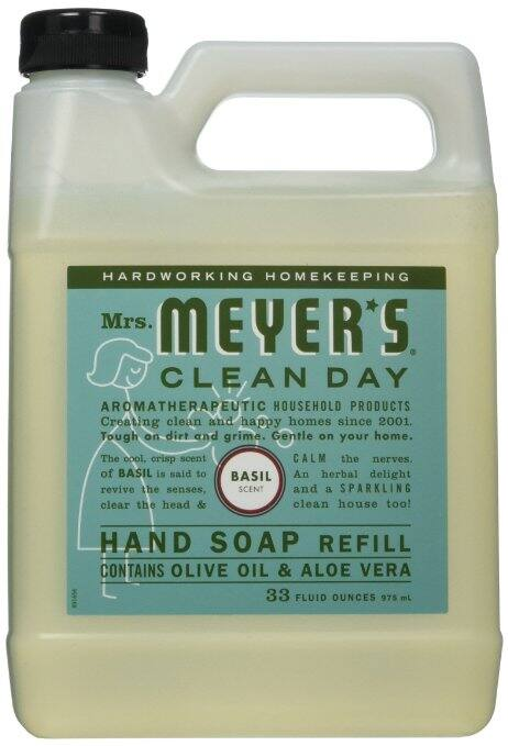 Prime Members: 33oz Mrs. Meyers Liquid Hand Soap Refill (Basil Scent) $3.98 + Free Shipping