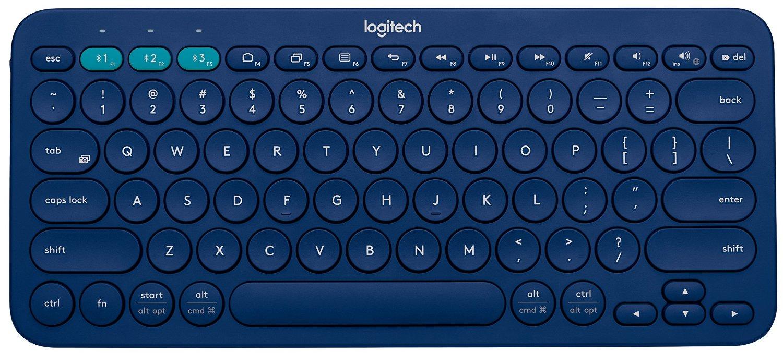 Logitech K380 Bluetooth Multidevice Keyboard (Blue)  $22 + Free Store Pickup