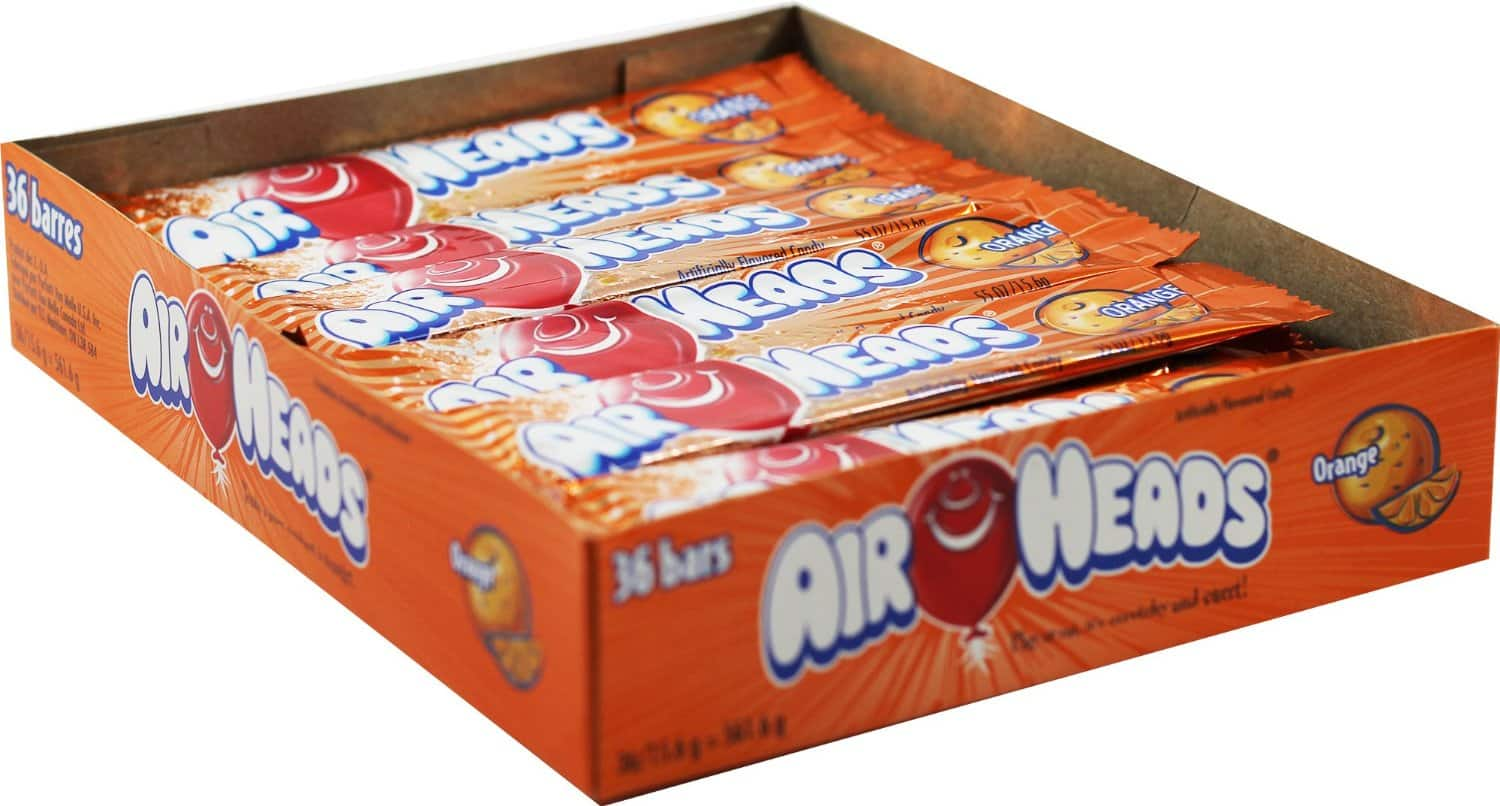 36-Pack 0.55oz Airheads Candy Bars (Orange) $3.73 or Less + Free Shipping Amazon.com