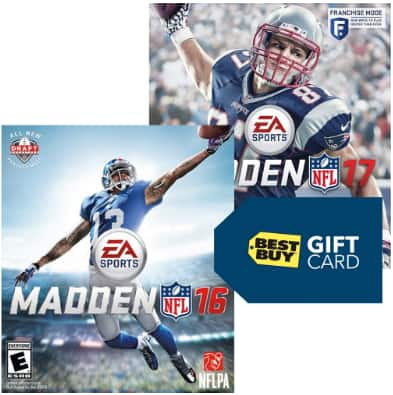 best buy stores trade in madden nfl 16 ps4 or xbox one for minimum. Black Bedroom Furniture Sets. Home Design Ideas