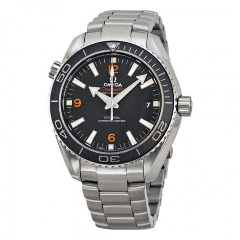 Omega Seamater Planet Ocean Automatic Watch on SS Bracelet $3645 + free shipping