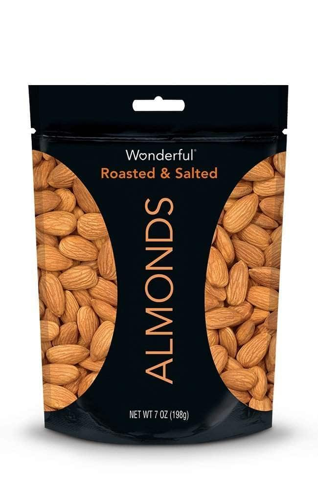 Prime Members: 7oz Wonderful Almonds (Roasted and Salted)  $0.85 + Free S/H