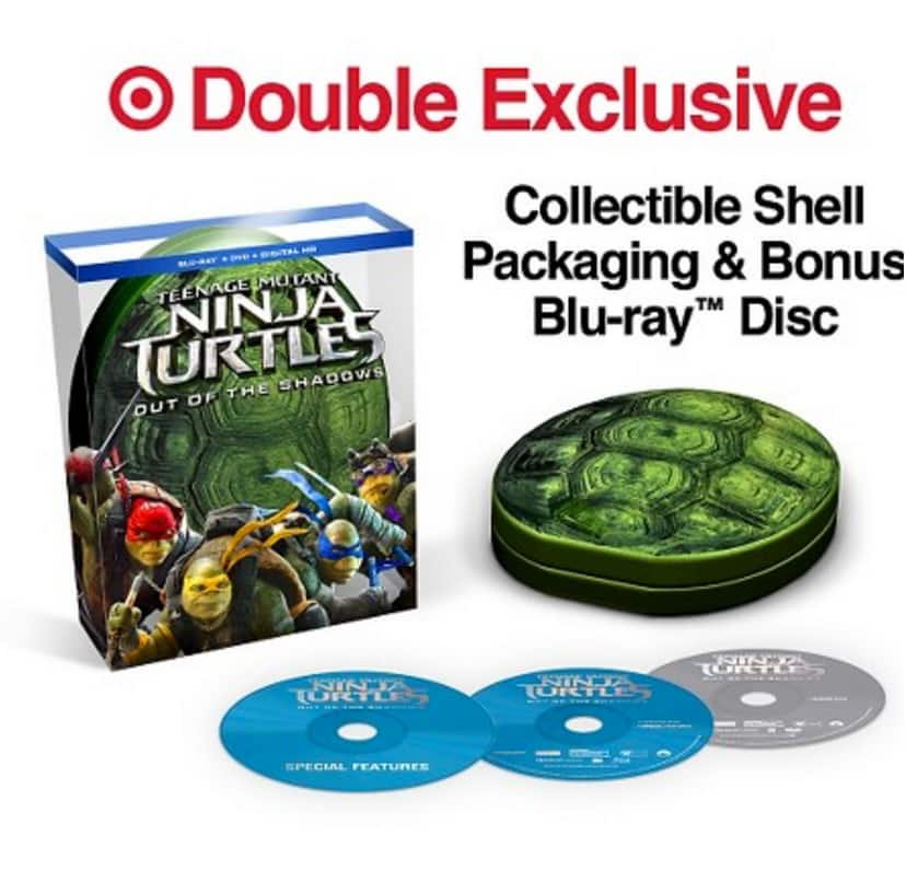 Teenage Mutant Ninja Turtles: Out of the Shadows (Blu-ray + Digital) Target Exclusive + $5 Target Gift Card $17 @ Target (Free Shipping w/ Red Card)