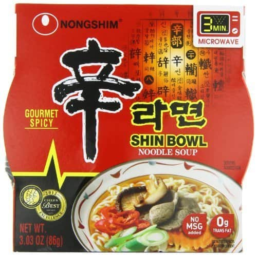 PRIME ONLY - Nongshim Shin Big Bowl Noodle Soup, Gourmet Spicy, 3.03 Ounce (Pack of 12) - $10.04 or Less w/S&S or $10.57 w/Prime