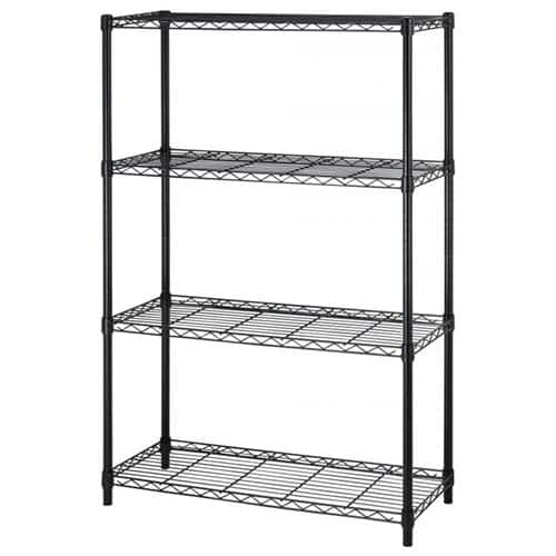"BestOffice 54"" Steel Wire 4-Tier Metal Shelving Rack (Black)  $27 + Free Shipping"