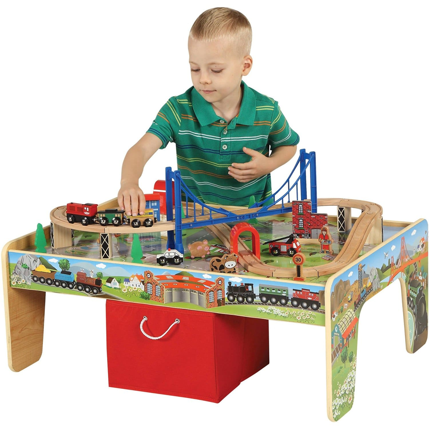 50-Piece Train Set with 2-in-1 Activity Table $37 + Free Store Pickup @ Walmart
