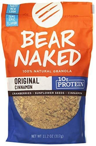 Bear Naked Original Cinnamon Protein Granola, 11.2 Ounce $2.36 or less with Amazon S & S
