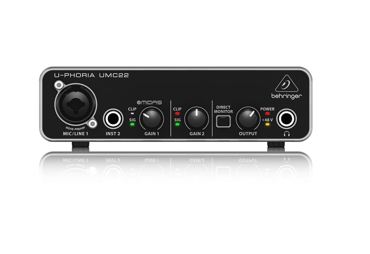 Behringer UMC22 USB Audio Interface w/Midas Preamp (free T6 TRACKTION DAW code w/registration) $39.99 shipped!