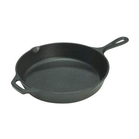 "12"" Lodge Cast Iron Pre-Seasoned Skillet $16.99, 8"" Lodge Seasoned Cast Iron Skillet $9, 10.5"" Lodge Pre-Seasoned Cast-Iron Round Griddle $11.21 + Free Store Pickup"